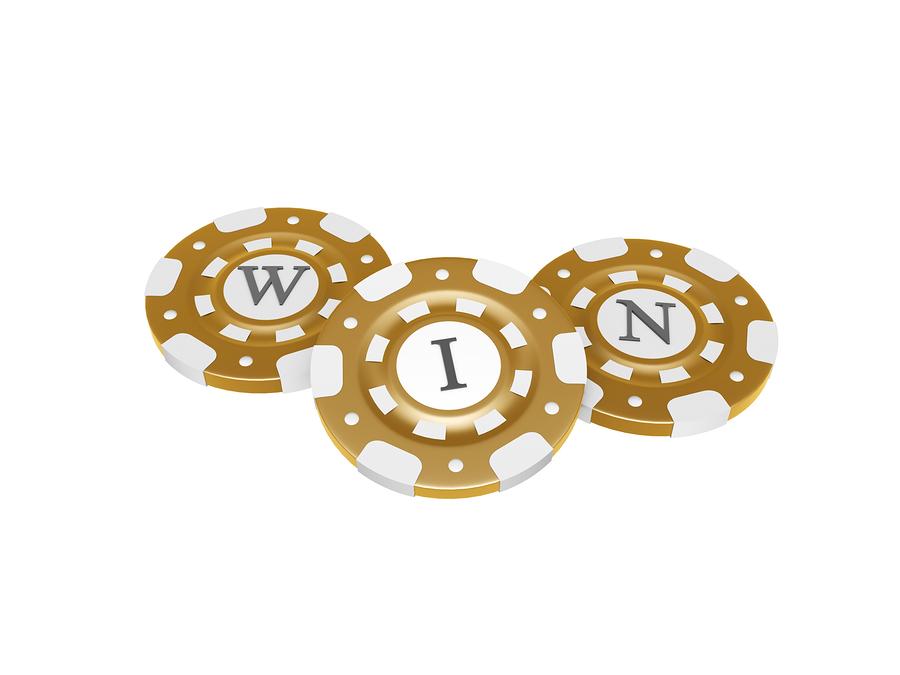 bigstock Casino Chips With Win Symbol 34113443 Drömvinsten